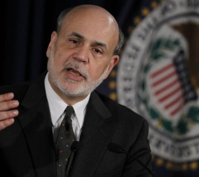 U.S.Federal Reserve Chairman Bernanke speaks to the press following the Fed's two-day policy meeting at the Federal Reserve in Washington